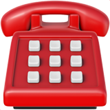 Emoji of red telephone